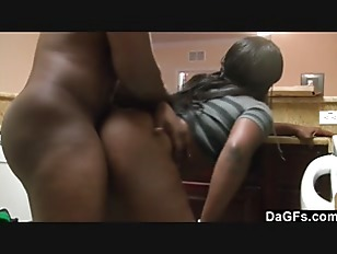 Picture A Kitchen Fuck For This Big Assed Ebony Gal