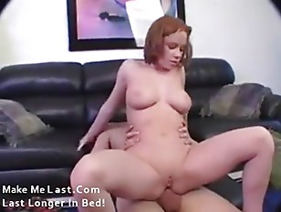 Redhead butt fuck slut with huge load on face