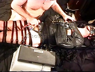 Picture CBT Totally Bound Hunk In Leather Straitjack...