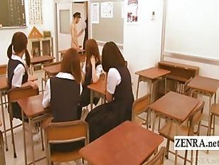 Cfnm tease student nudist Subtitle japan