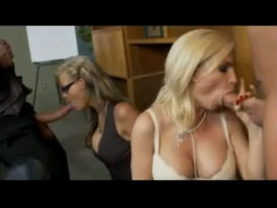 Hot blonde group fuck