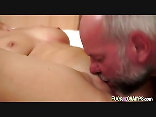 Picture Young Babe Slurps Older Guy