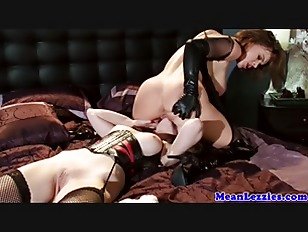 Femdom pussylicked by submissive lesb...