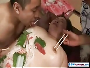 Picture Japanese BBW Sushi Fetish