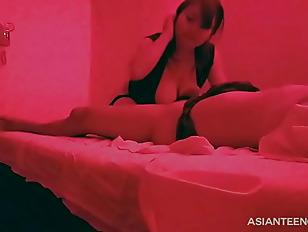 hidden camera Asian massage, blowjob and sex
