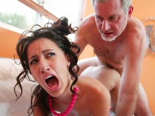 Picture Amia Moretti Rough Grandpa Sex