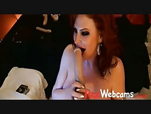 Picture Redhead Mommy With Huge Boobs Gags Herself