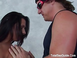 Picture Two Popular Redhead Chosse An Outdoor Screwed
