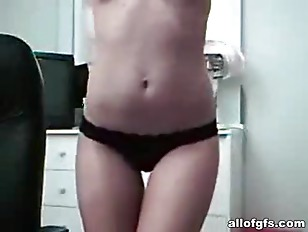Picture Striptease From A Skinny GF In Glasses