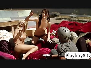 Picture Sexy Badass Girls Have Fun Doing Outdoor Act...