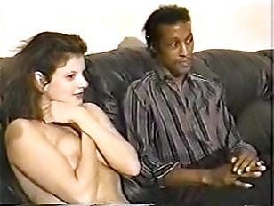 Picture Black Maarq Teaching Brunette To Suck Cock