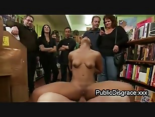 Picture Bound Babe Anal Fucked In Book Store