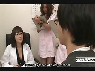 Picture Subtitled CFNM Japanese Nurses Handjob Blowj...