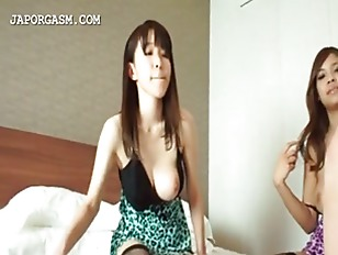 Picture Asian Threesome With Two Hot Girls Sucking H...
