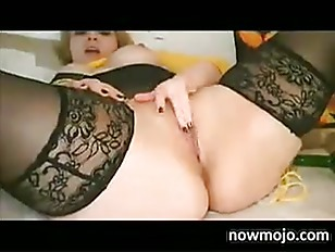 Picture Horny BBW Masturbates With A Bottle