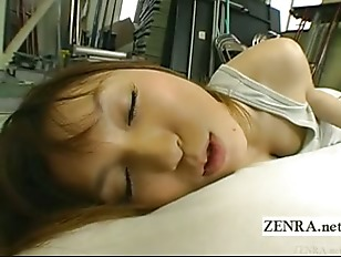 Picture Subtitled Japanese Schoolgirl Lies With Virg...