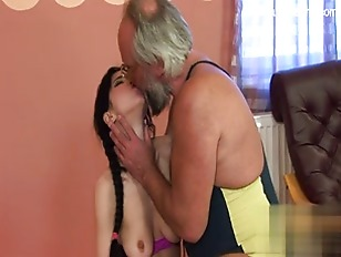 Picture Old Guy Scores The Hottest Brunette