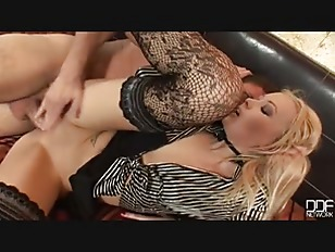Picture Hot Blonde With Stockings Takes Hard Dick