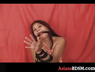 Picture Asian Hottie Here Tied Up And Loving It