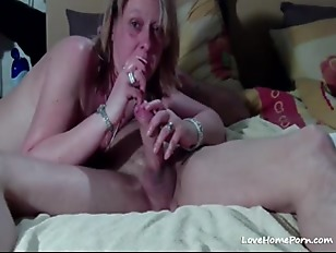Picture Blonde Sucks A Big Fat Cock Dry And Swallows