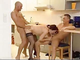 German mature 3some