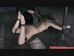 Picture Restrained Bdsm Sub Punished With Bastinado