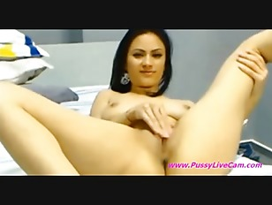 Sexy Brunette Masturbates All Her Hol...
