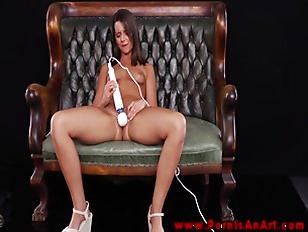 Picture Brunette Babe Masturbates With Vibrator