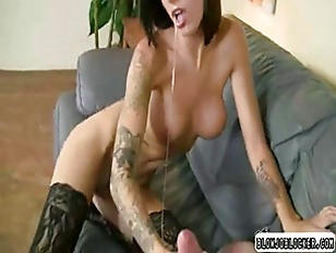Picture Big Tit Tattoed Babe Gagging