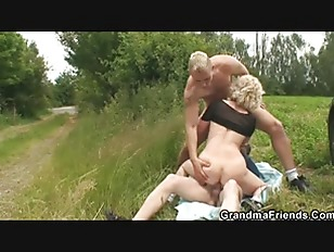 Picture Old Whore Takes Two Dicks Outdoor