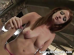 Picture Hot Redhead Gives POV Blowjob