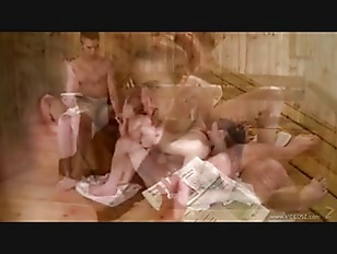 Picture Sauna Sex 3some Fuck