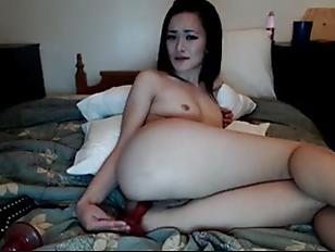 Webcam Girls toy anal gagging