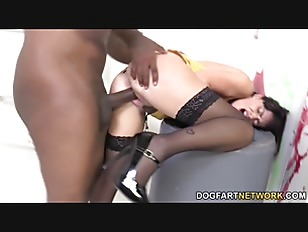 Picture Ava Dalush Gets Two Black Cocks In A Restroo