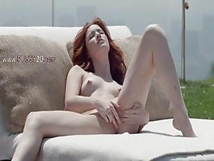 Gentle Redhead Opening Vagina...