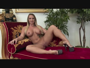 Beautiful blonde with big tits covered