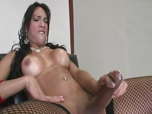 Breasty Shemale In Stockings...