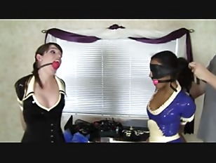 Latex maid bondage...