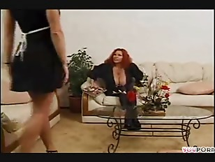 Milf with huge tits comforts her friend