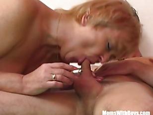 Mature Blonde Mama Sucks...
