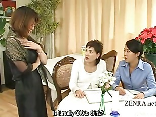 Picture Subtitled CFNM Japanese Milfs Find Penis Mil...