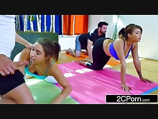 Yoga Class Turns Into Freaky Foursome – Abella Danger, Cassidy Banks