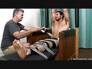 image Inked hunk chase lachance is restrained and fiercely tickled