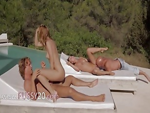 Picture Two Couples Banging Together Outside