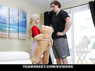 Naughty Teen Sia Lust Enjoys Her New Teddy Bear