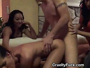 lucky guy gangbang