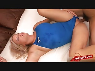 Horny Blonde Accidental Anal...
