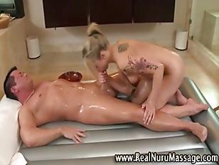 Blonde Massage Fetish Hottie...