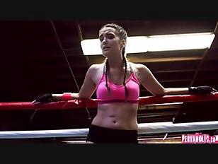 Boxing Brunette Fucks In...
