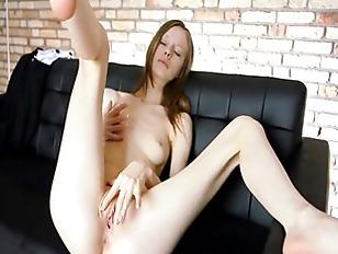 Rubbing Her Ultra Skinny...